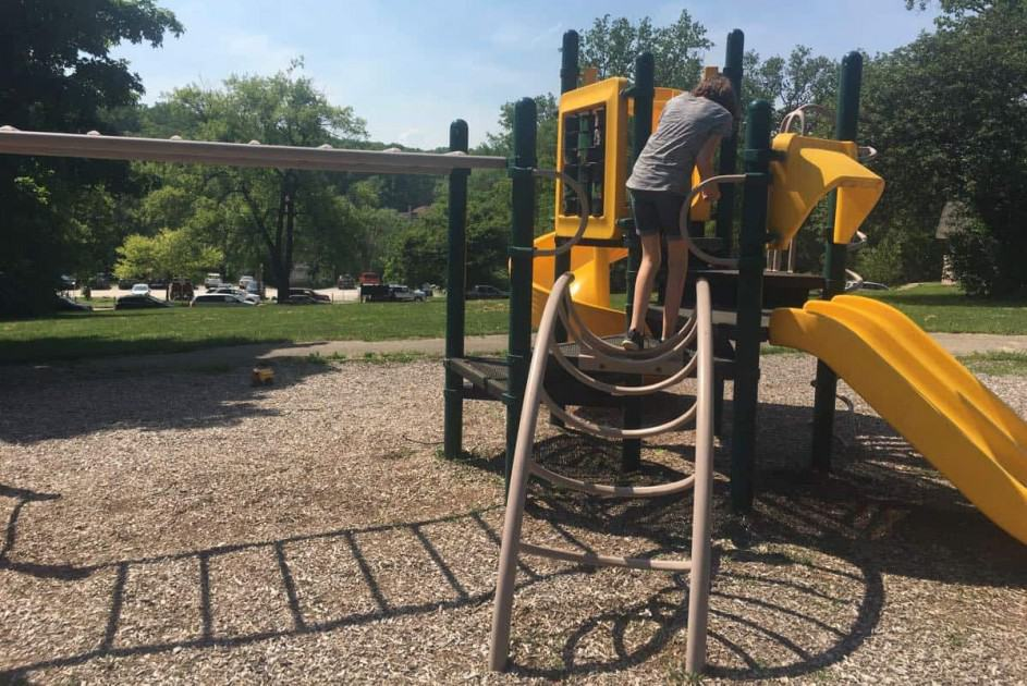 Ann Arbor Longshore Park Playground Review - Back of Structure