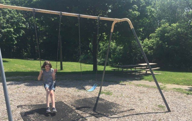 Ann Arbor Longshore Park Playground Review - Swings