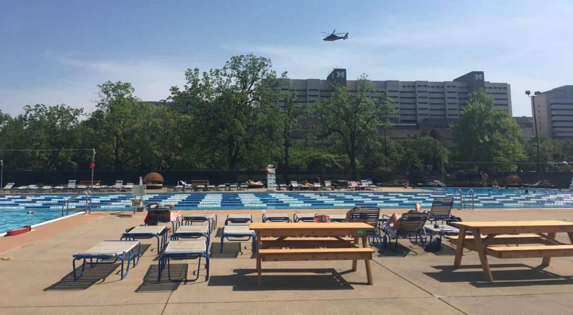 Ann Arbor Fuller Park Pool & Survival Flight Helicopter