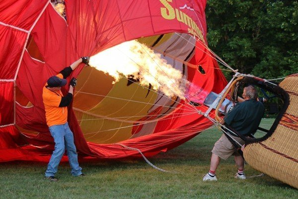 Michigan Challenge Balloonfest - Inflating balloon