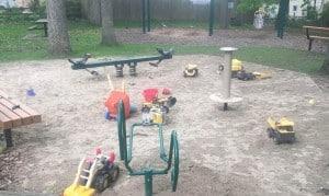 Mixtwood Pomona Park Sandbox with Seesaw
