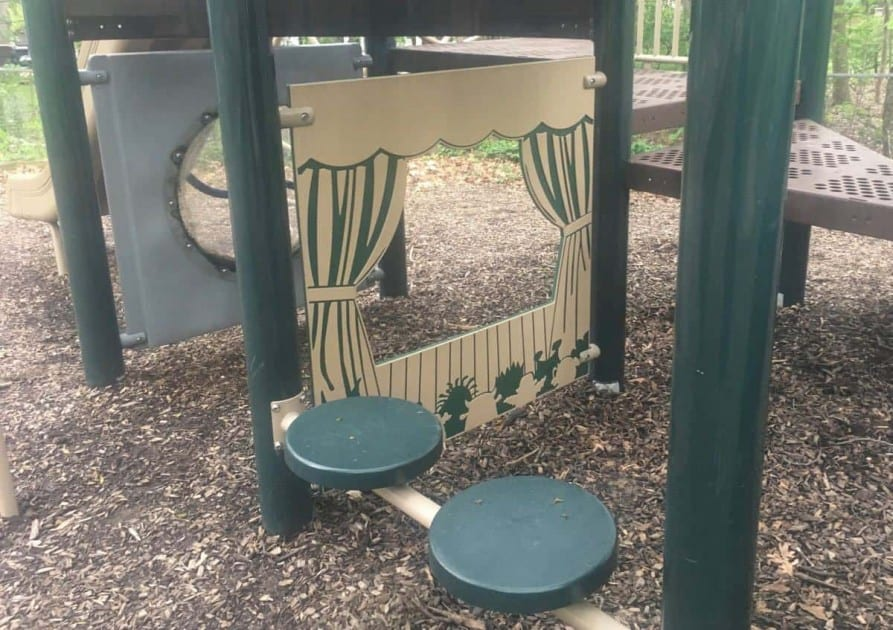 Mixtwood Pomona Park Playground Profile - Theater Under Play structure