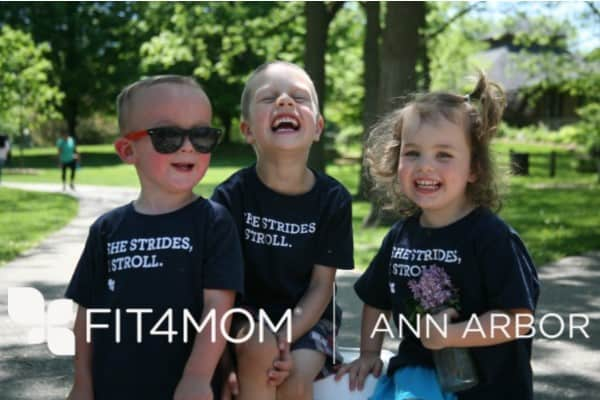 Fit4Mom Ann Arbor - Stroller Strides Kids Having Fun