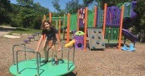 Ann Arbor Winewood Thaler Playground Profile - Merry Go Round & Structure