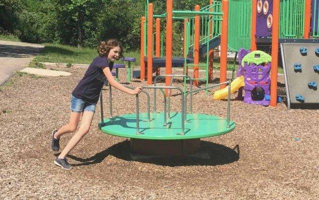 Ann Arbor Winewood Thaler Playground Profile - Merry Go Round
