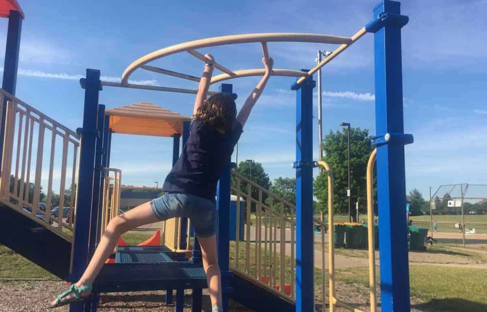 Saline's Tefft Park - South Playground - Curved Monkey Bars