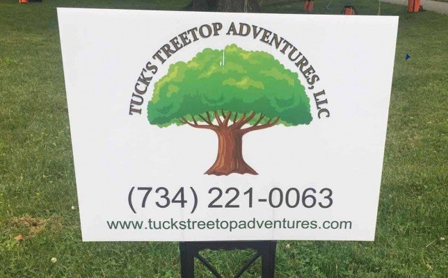 Tuck's Treetop Adventures - Sign