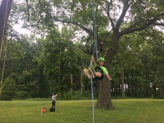 Tuck's Treetop Adventures - Swinging