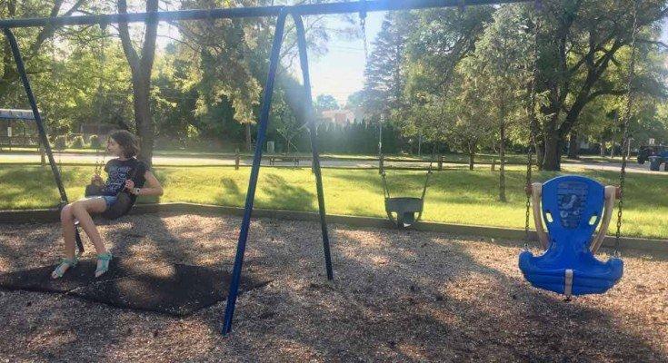 Ann Arbor Brookside Park - Swings