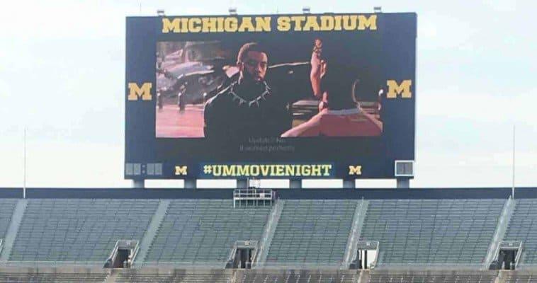Michigan Stadium Movie Night - Black Panther on Screen