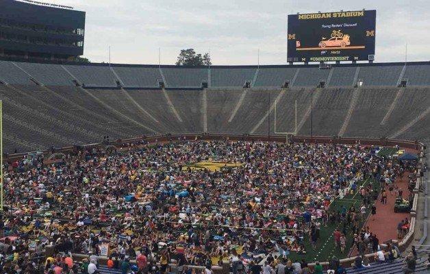 Michigan Stadium Movie Night - Field Seating