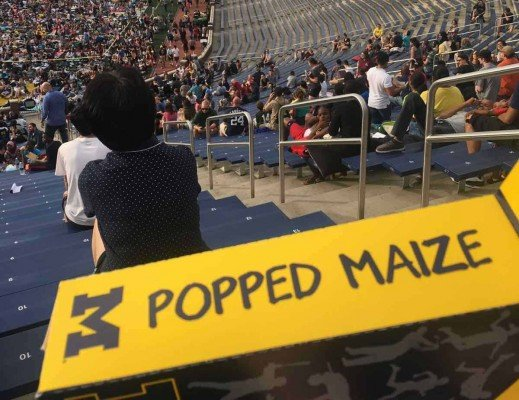 Michigan Stadium Movie Night - Popped Maize