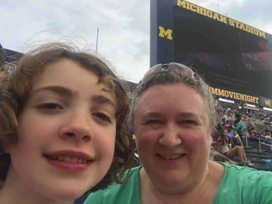 Michigan Stadium Movie Night - Selfie