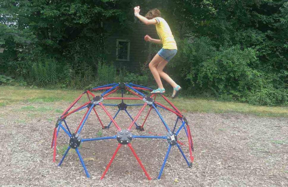 Ypsilanti's Edith Hefley Tot Lot Playground Profile - Climbing Dome