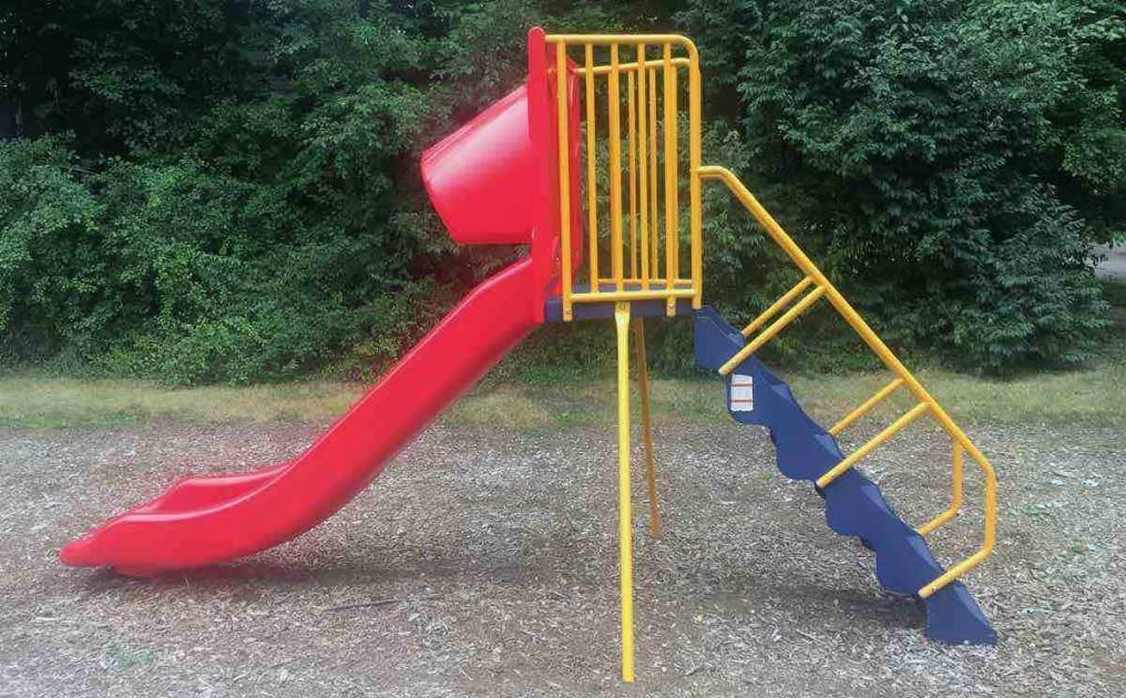 Ypsilanti's Edith Hefley Tot Lot Playground Profile - Slide