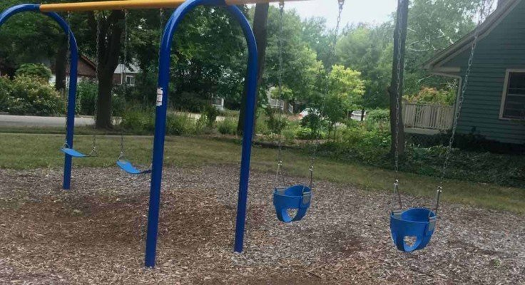 Ypsilanti's Edith Hefley Tot Lot Playground Profile - Swings