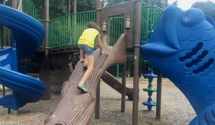 Ypsilanti's Clubview Park - Log Climb