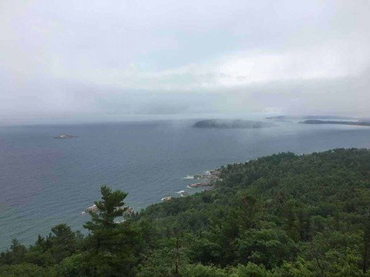 Visit Michigans Upper Peninsula with Kids - Marquette- Sugarloaf Mountain - Before Stairs