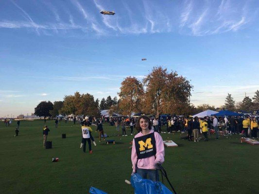 Michigan Football - Tailgating at Golf Course (Collecting Cans & Bottles)