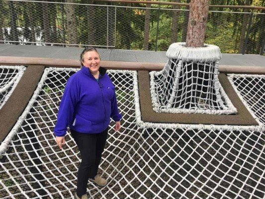 Canopy Walk - Cargo Net in Spruce Grove - Whiting Forest - Dow Gardens
