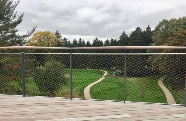 Canopy Walk - Railings on Canopy Walk - Whiting Forest - Dow Gardens