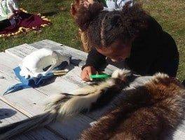 LSNC School Break Camp - Girl with Specimens