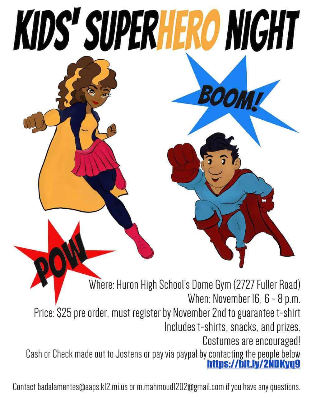 Kids Superhero Night Details