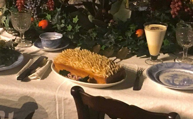 Greenfield Village Holiday Nights - Porcupine Cake at Susquehanna Plantation