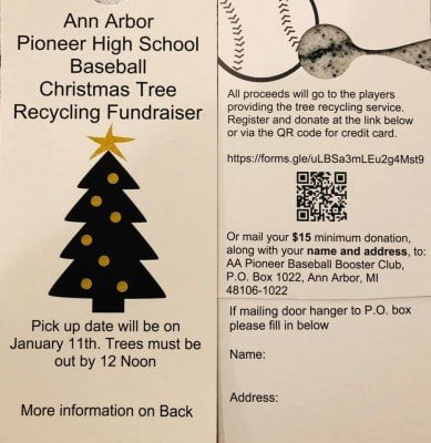 Pioneer Baseball Tree Collection Fundrasier