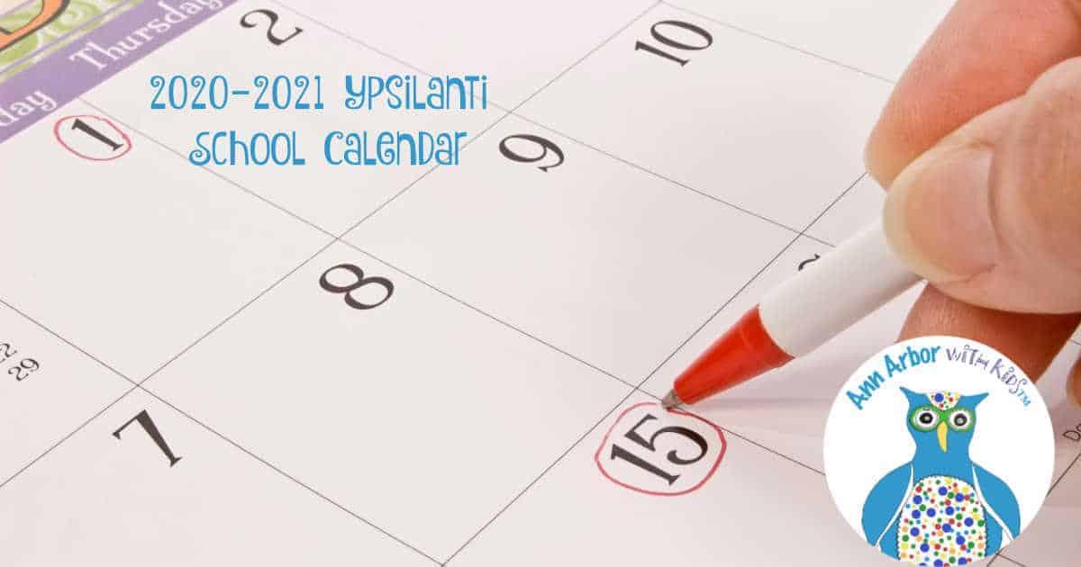 2020-2021 Ypsilanti Community Schools Calendar