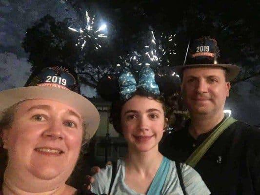New Years Fireworks Selfie