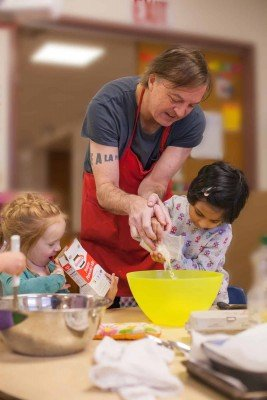 Triangle Cooperative Preschool - Assist Parent Cooking