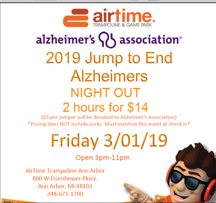 March 1 Alzheimer's Event