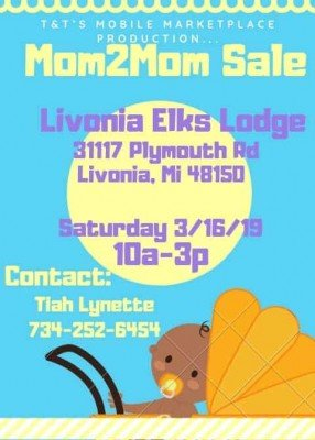 Livonia Elks Lodge Mom2Mom Sale