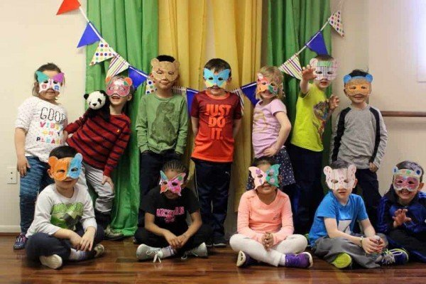 Peachy Fitness Birthday Parties - Mask crafts