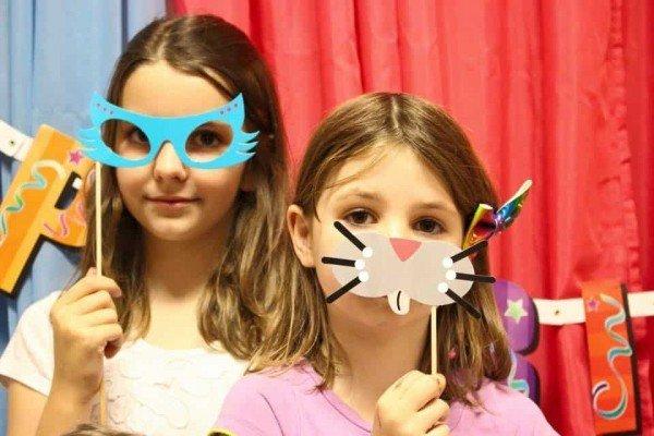 Peachy Fitness Birthday Party - Masks