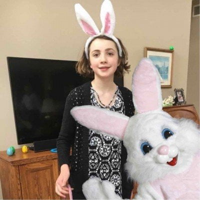 Easter Bunny Photo Bomb