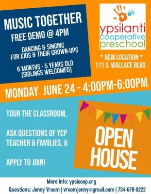 Ypsilanti Cooperative Preschool Open House
