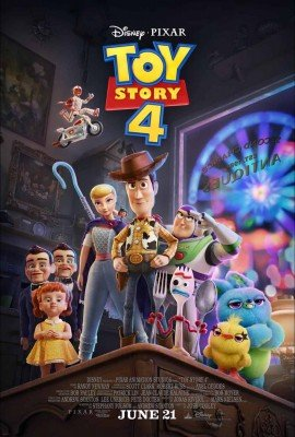 Toy Story 4 - Poster with Bo, Woody, Buzz, and new Characters