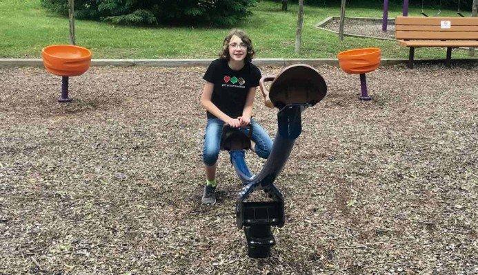 Ann Arbor's Placid Way Park - Seesaw