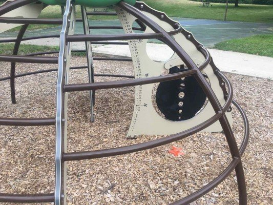 Ann Arbor's Churchill Downs Park Playground Profile - Dome Climber
