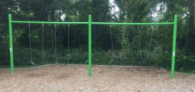 Ann Arbor's Churchill Downs Park Playground Profile - Swings