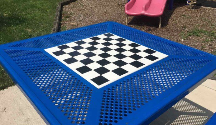 Ann Arbor's North Main Park Playground Profile - Checkerboard Table