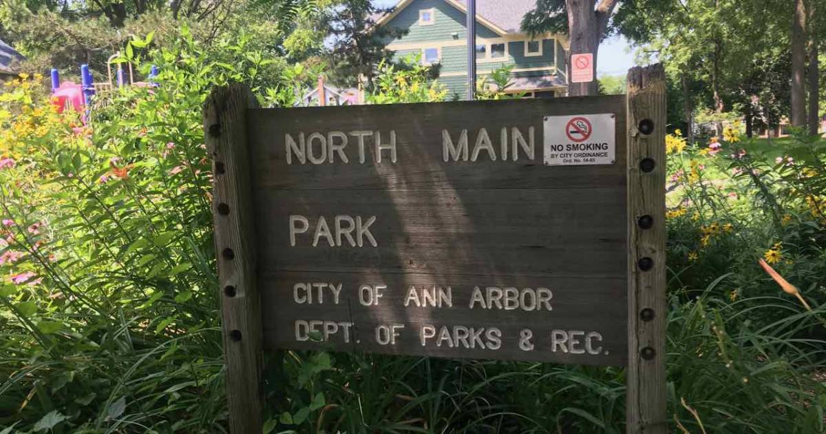 Ann Arbor's North Main Park Playground Profile - Entrance Sign