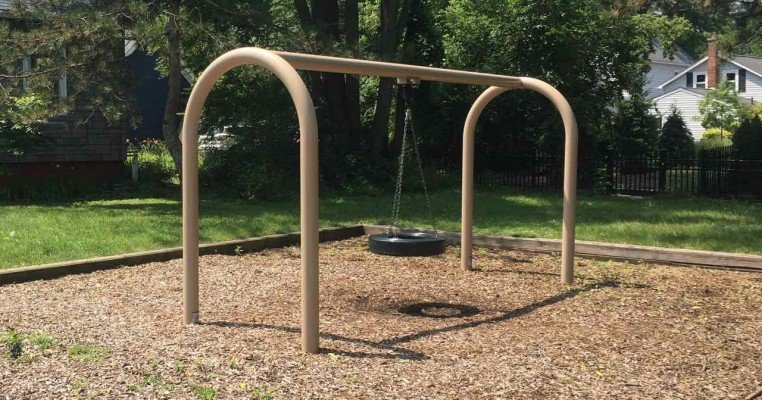 Ann Arbor's North Main Park Playground Profile - Tire Swing