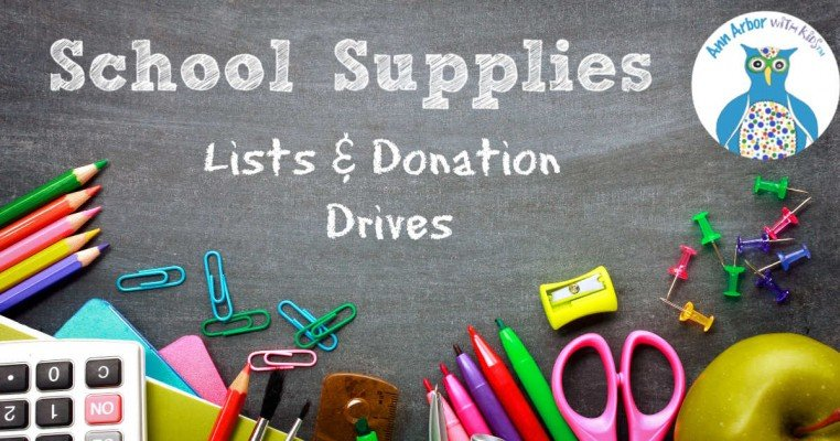 Ann Arbor School Supplies - Lists & Donation Drives
