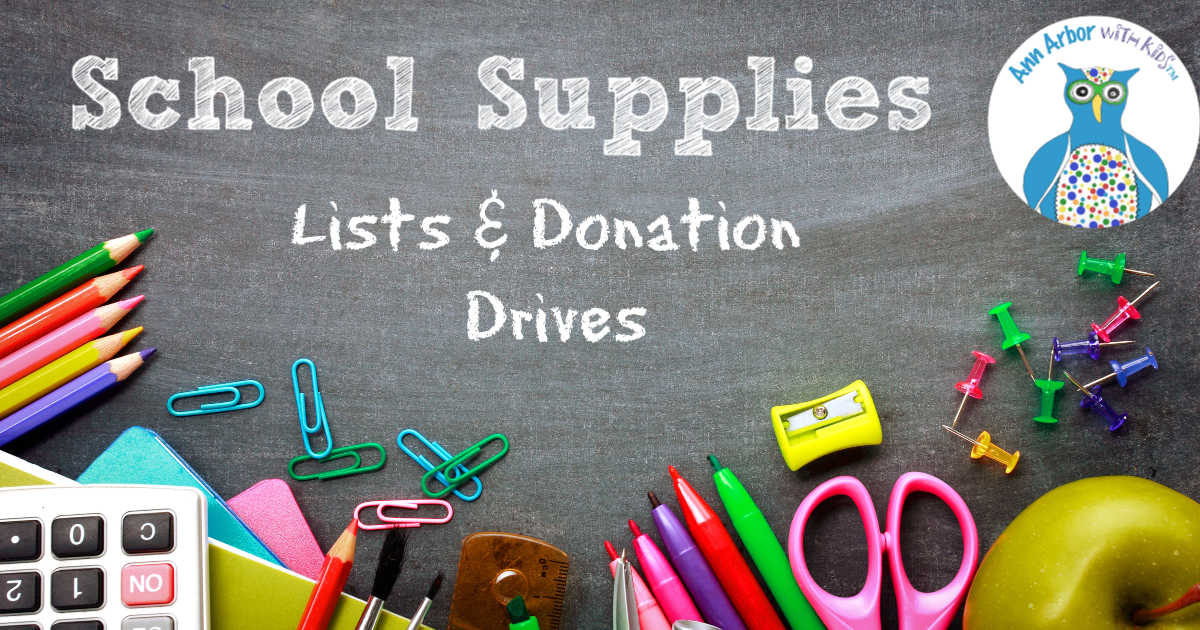 Ann Arbor School Supplies - Lists & Donation Drives