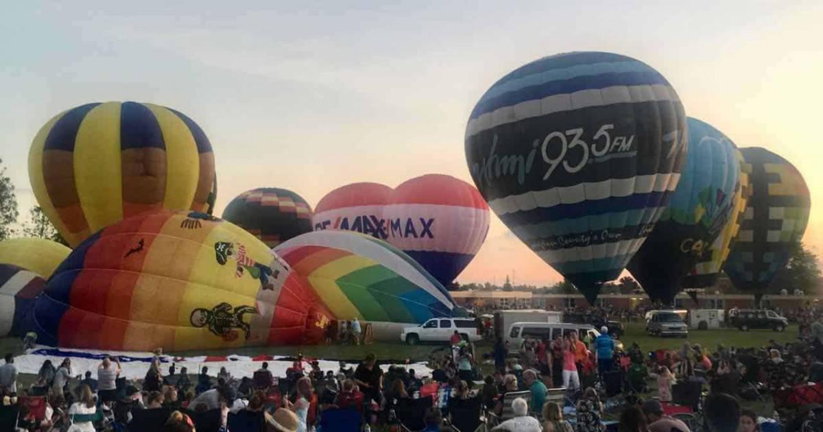 Michigan Challenge Balloonfest - Preparing for Balloon Glow