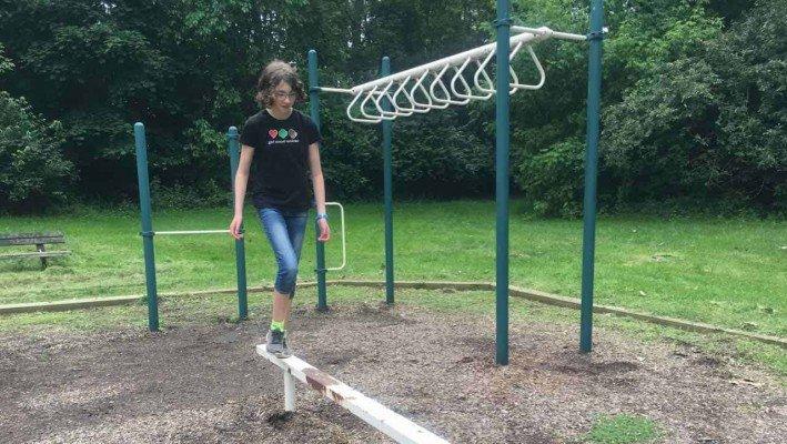 Tuebingen Park - Ann Arbor Playground Profile - Balance Beam
