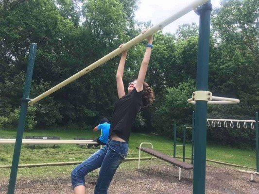 Tuebingen Park - Ann Arbor Playground Profile - Slanted bar